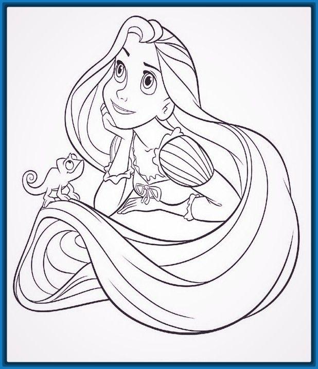 Imagenes de princesas para colorear de Rapunzel | Imagenes ...