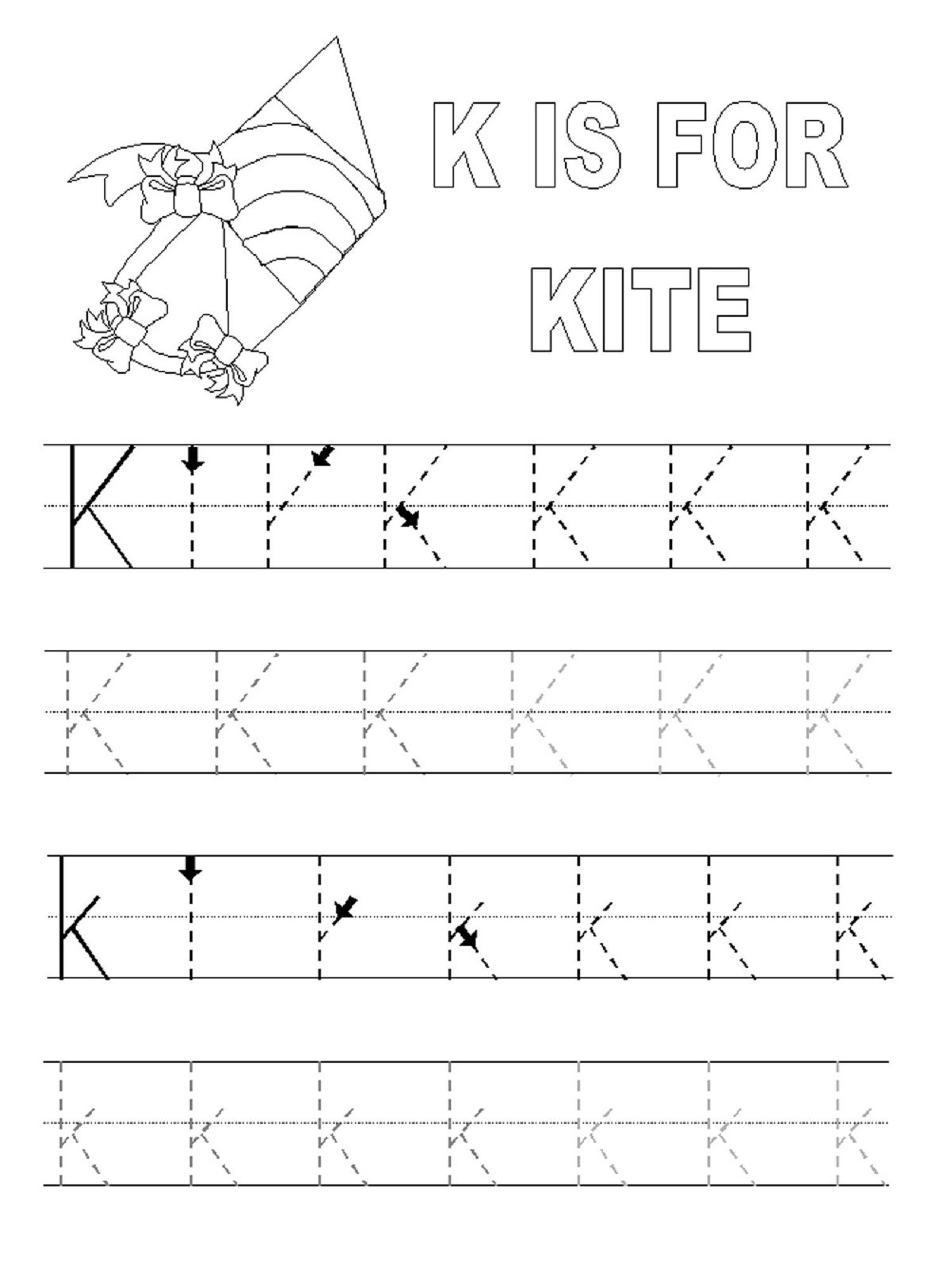 Alphabet Tracing Pages For Kids Exercise