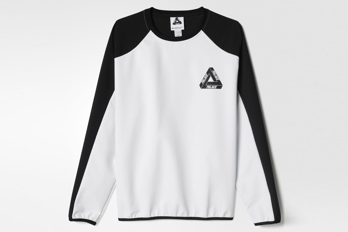 Adidas Originals X Palace Crew Sweatshirt Long Sleeve Tshirt Men Crew Sweatshirts Mens Sweatshirts [ 800 x 1200 Pixel ]
