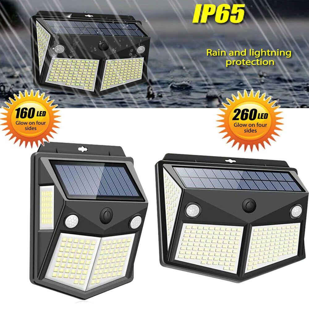 260 Led Solar Lamp Power Pir Motion Sensor Wall Light Outdoor Garden Waterproof Ebay In 2020 Solar Lamp Solar Powered Lights Fountain Lights