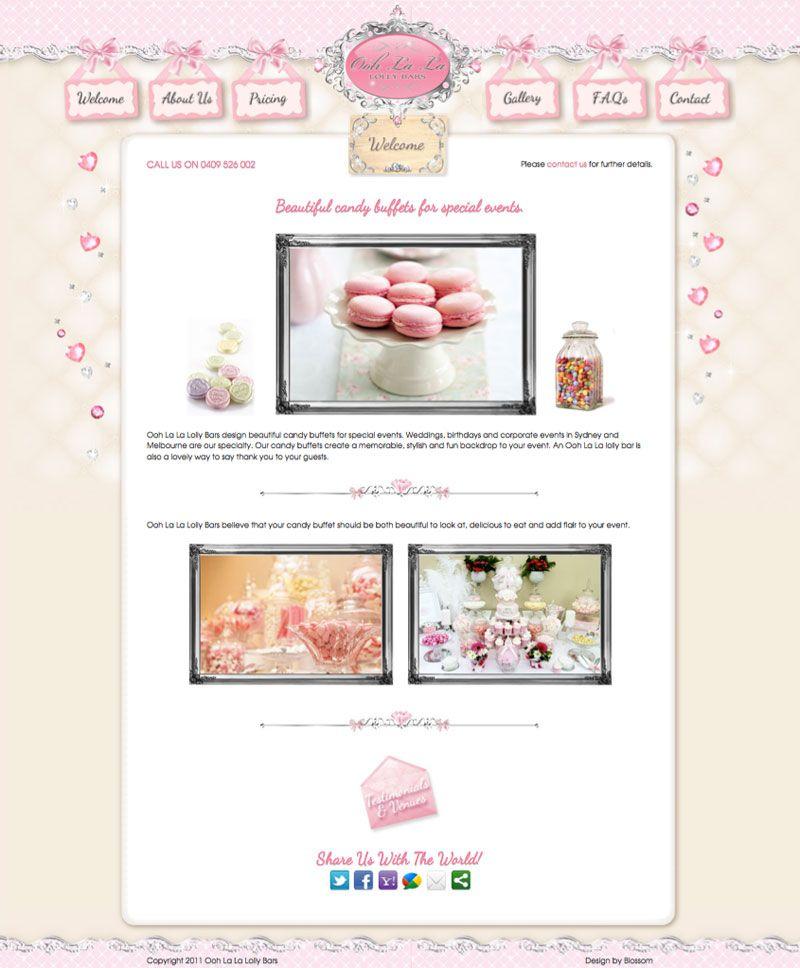 Boutique Web Design - Blossom Graphic Design - Glamorous, Feminine ...
