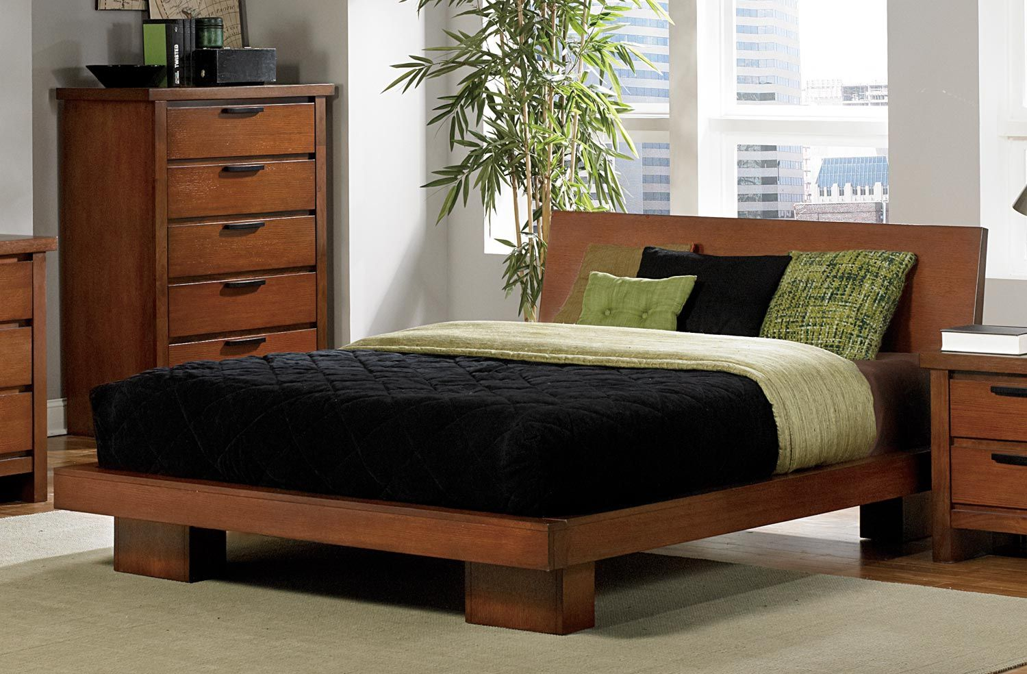 Homelegance Kobe Platform Bed Dark Oak Price 574 00