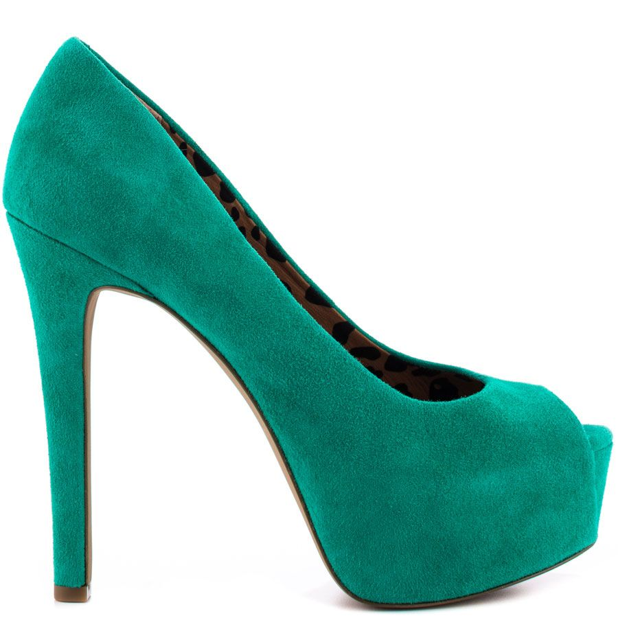 This Jessica Simpson Pump Showcases A Soft And Bright Green Suede Upper And Smallp Toe A  Inch Heel