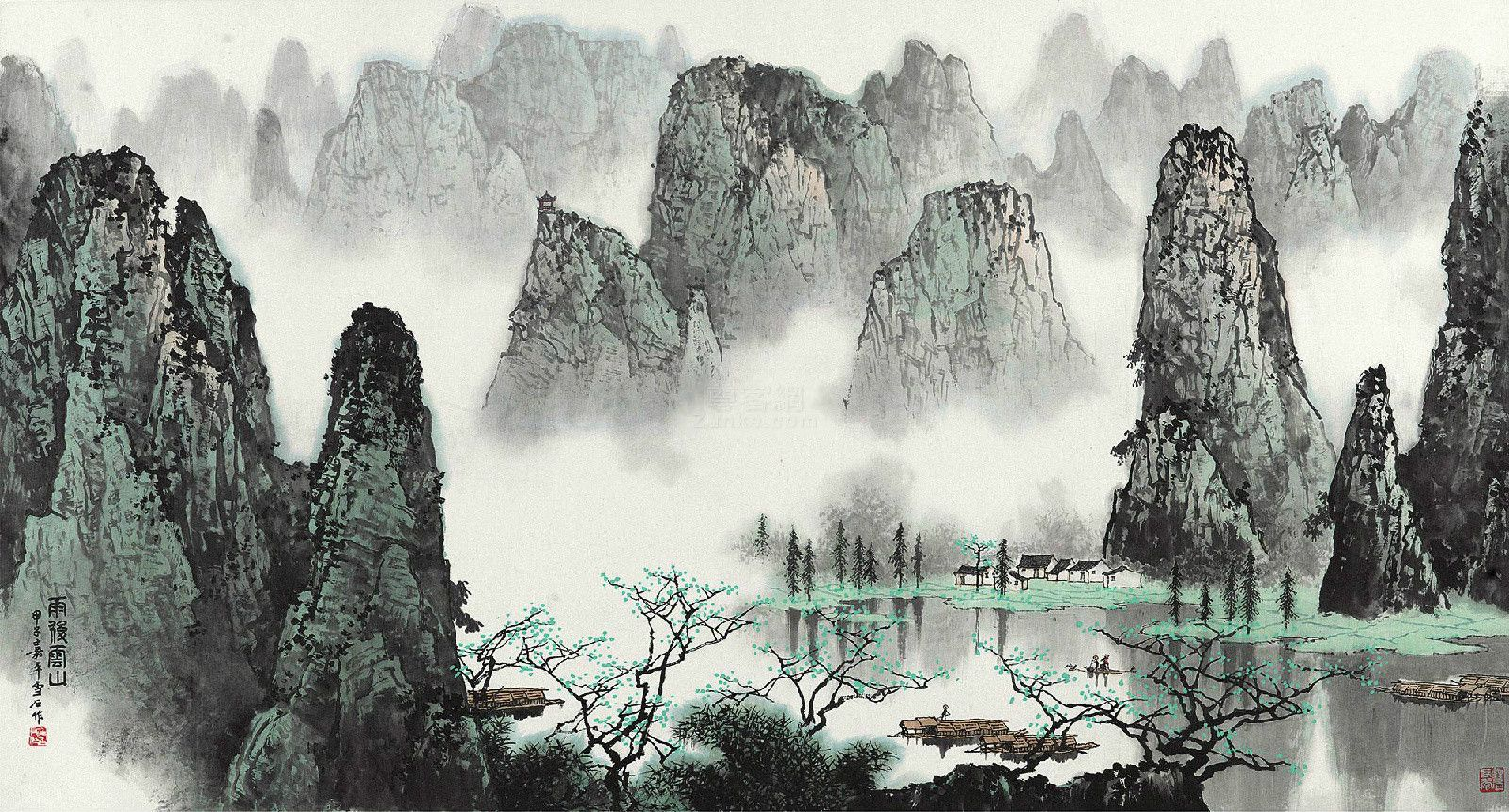 chinese painting en 2018 pinterest paysage chinois peinture paysage et. Black Bedroom Furniture Sets. Home Design Ideas