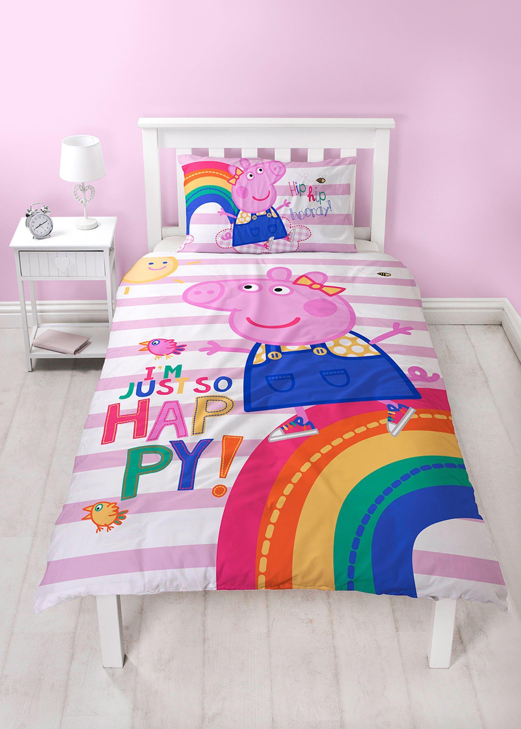Kids Peppa Pig Duvet Cover (Single) Pink Kids duvet