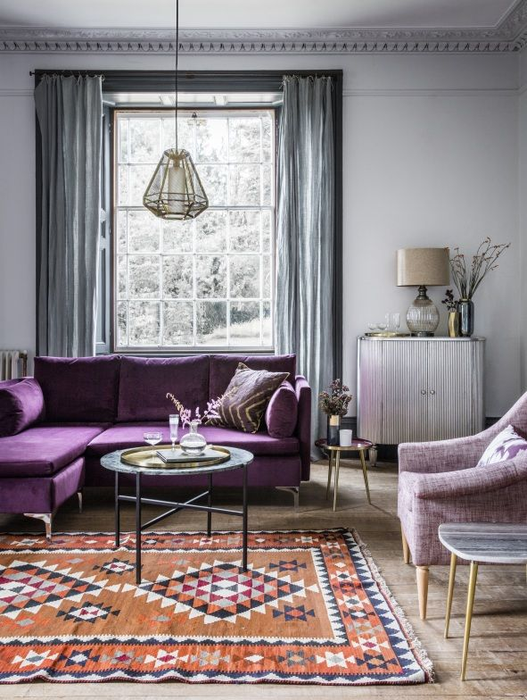 Room Reveal Purple And Grey Living Room Sophie Robinson Living Room Grey Purple Living Room Living Room Decor Gray #purple #and #silver #living #room #ideas