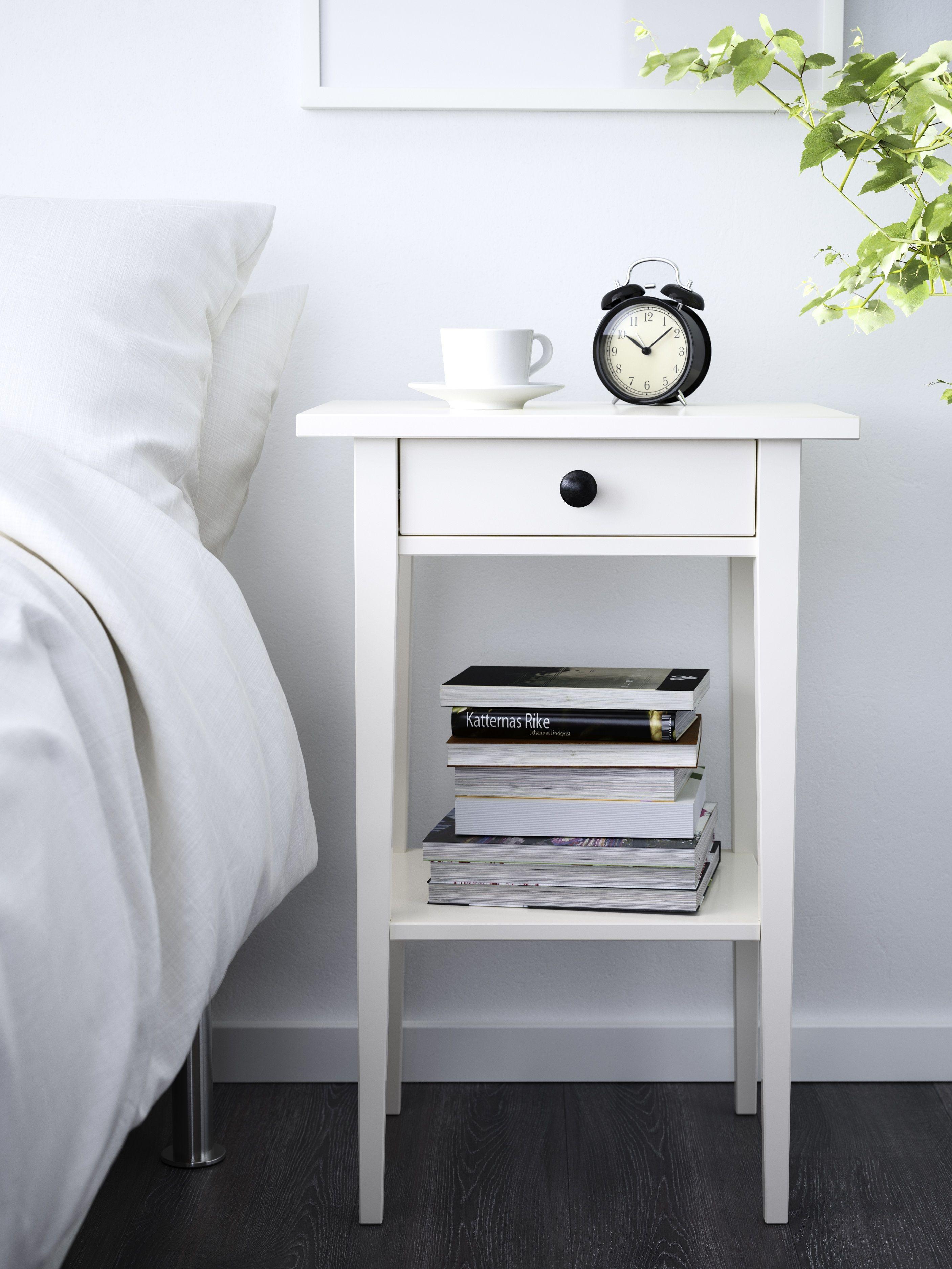HEMNES nachtkastje | #IKEA #IKEAnl #slaapkamer #wit #inspiratie ...