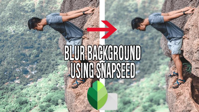 blur using snapseed