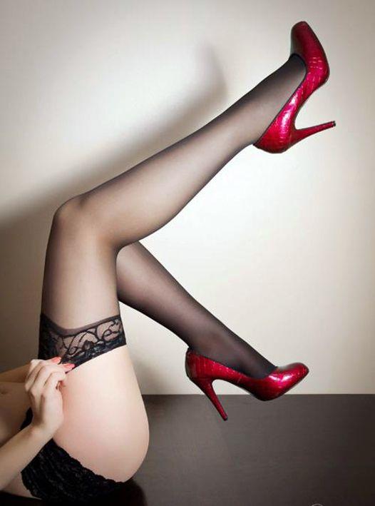 Pantyhose legs up in air