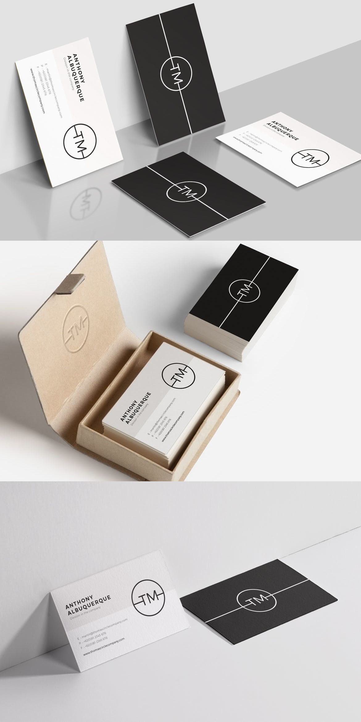 Minimal Business Card Adobe InDesign Agency Office