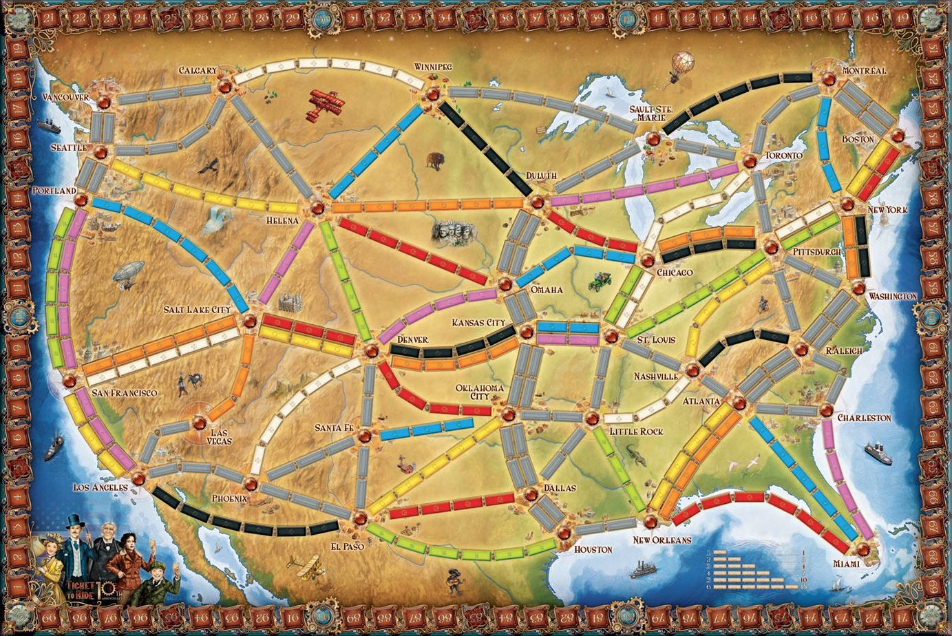 Anniversaries Ticket to Ride 10th Anniversary