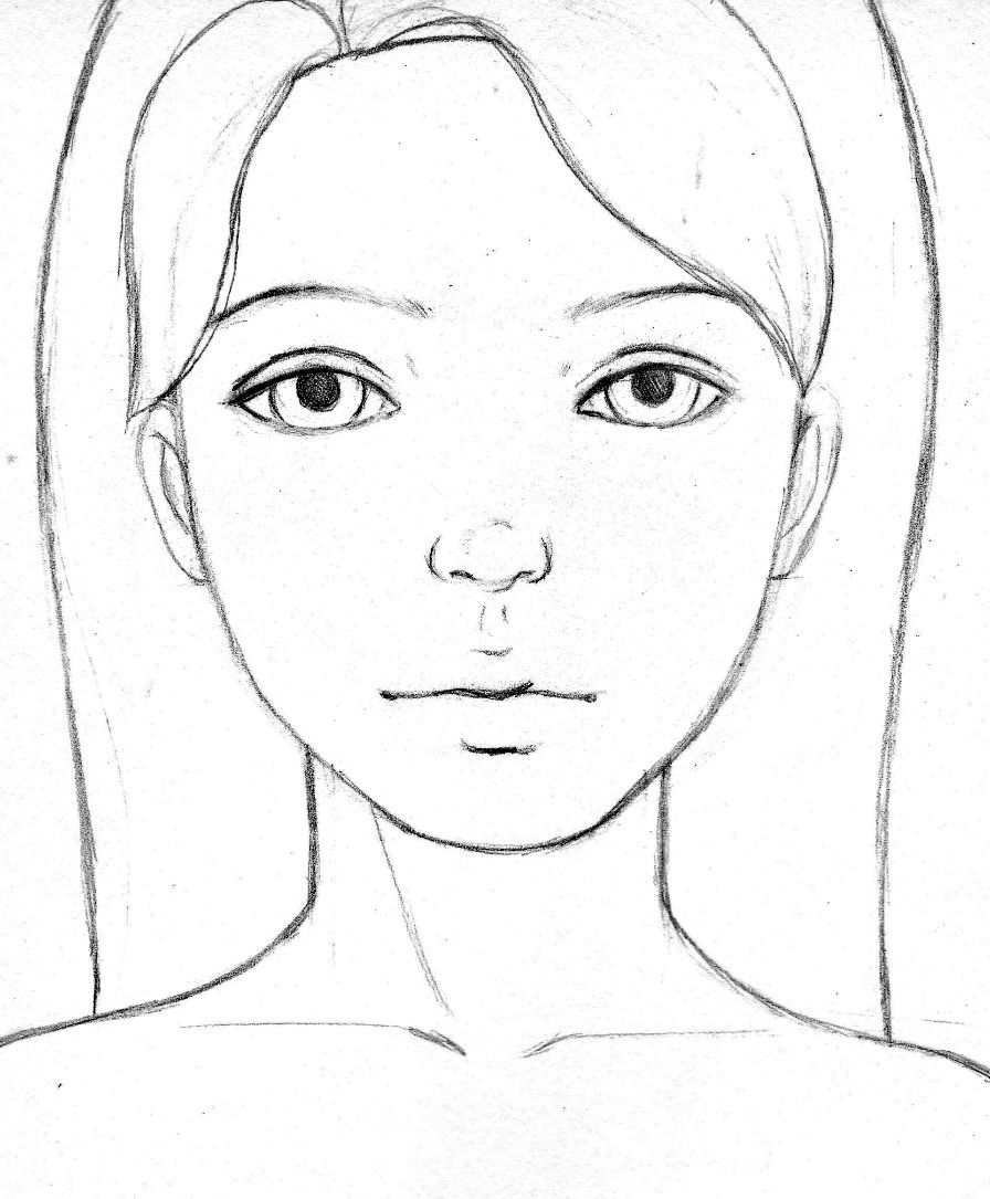 kat can paint face template | Simple face drawing, Girl ...