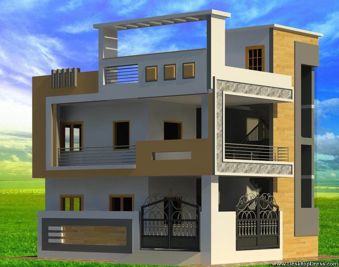 Pin By Amit Tiwari On Modern Houses In 2020 House Elevation Family House Plans Modern House Plans