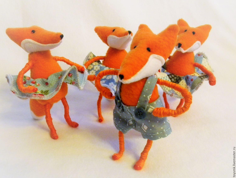 Купить Лисенок (продан) - оранжевый, игрушка ручной работы, подарок, лисенок, смешной, день рождения