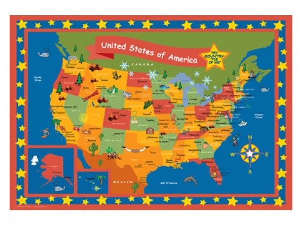 Childrens US Travel Framed Personalized Map Your Travels - Personalized us travel map