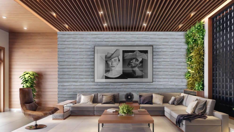 Kunststoff 3d Wandpaneele In Weisser Ziegeloptik Die Gfk Ziegelpaneele Sind Hervorragend Zu Montieren Und Authentisch Zum B Wandpaneele Wandverkleidung Paneele