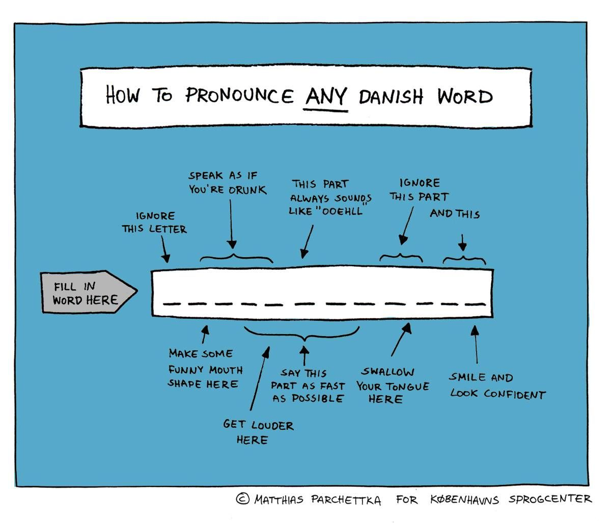 Mocking Danish pronounciation