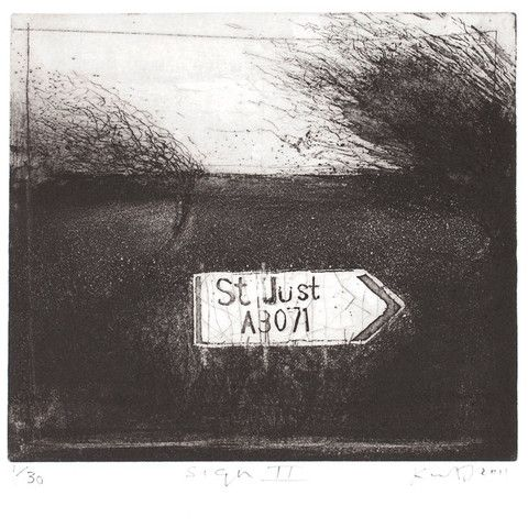 'SIGN II' (2011) by Kurt Jackson: etching and drypoint | plate size 22 x 22.5cm | signed and hand-numbered edition of 30. ✫ღ⊰n