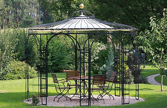 gartenpavillon aus metall florenz eleo pavillon garden houses pavillions conservatories. Black Bedroom Furniture Sets. Home Design Ideas