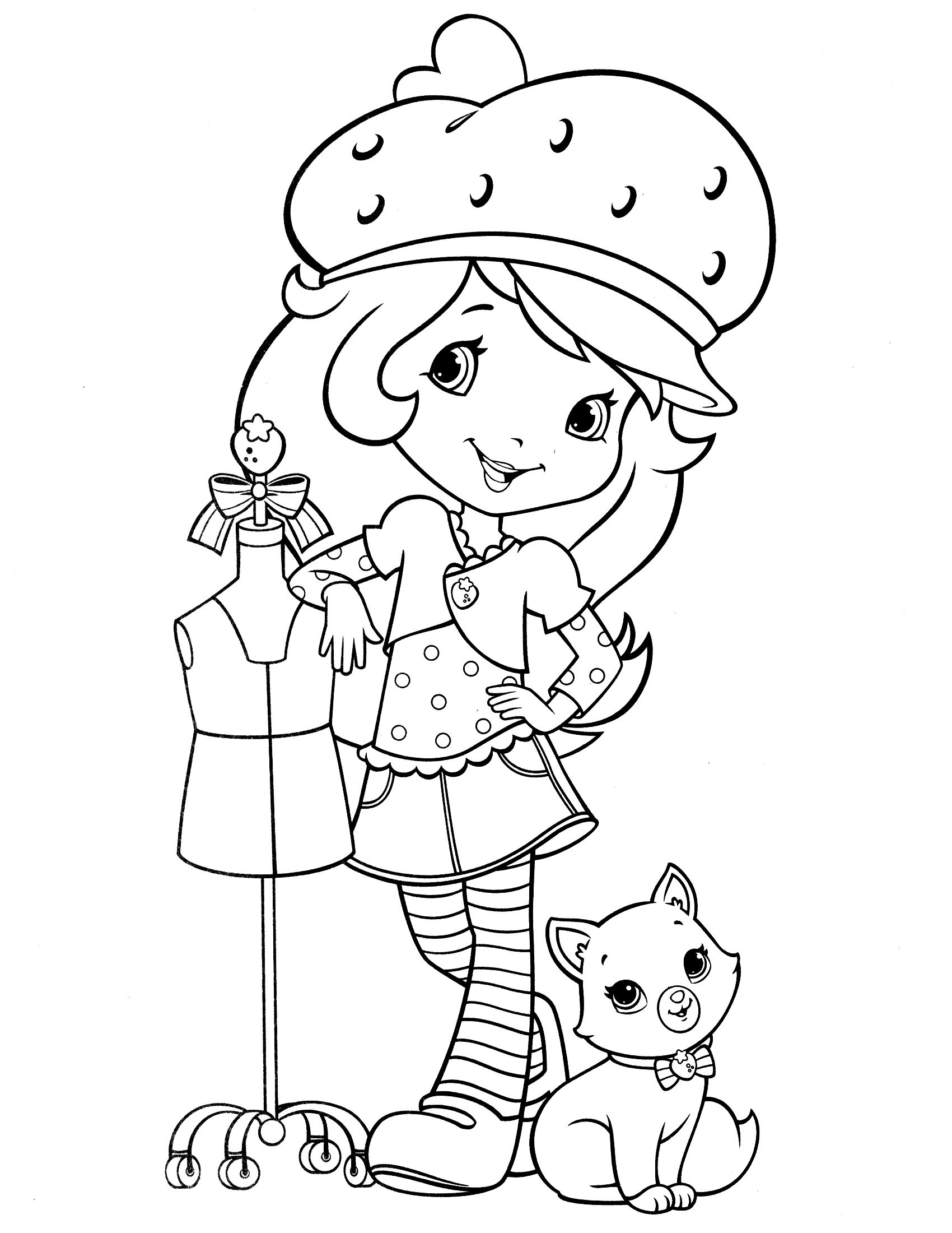 strawberry shortcake coloring page fresitas