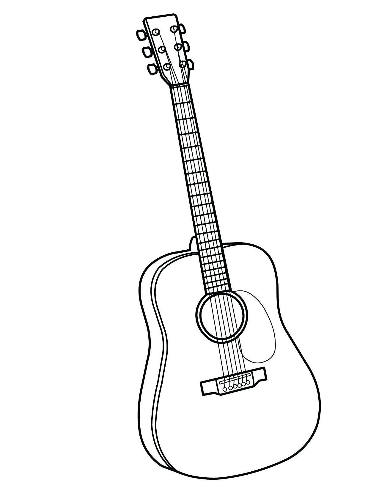 18 Coloring Page Guitar Coloring For Kids Music Coloring Coloring Pages