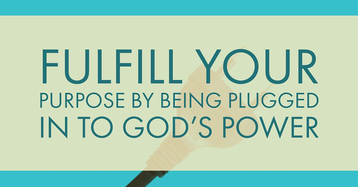 Are you plugged into gods power pastor rick warren