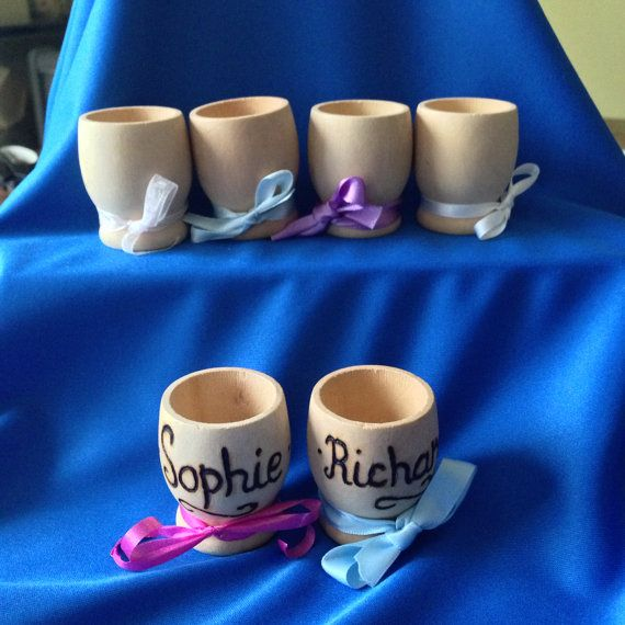 Personalised Egg Cups Wedding Favours Or Gifts By Pyroartbysdew 2 00