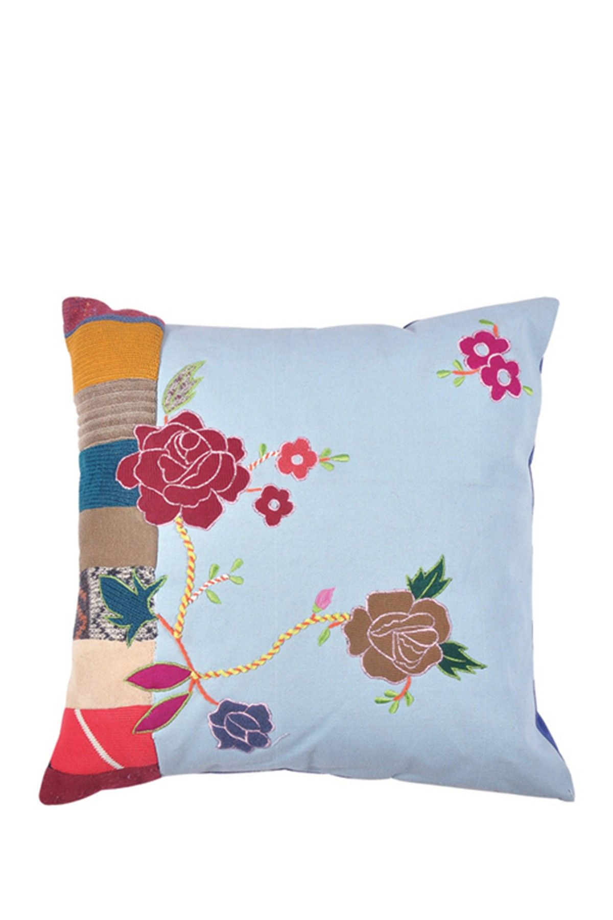 Floral pillow multi by karma living on hautelook pillow talk