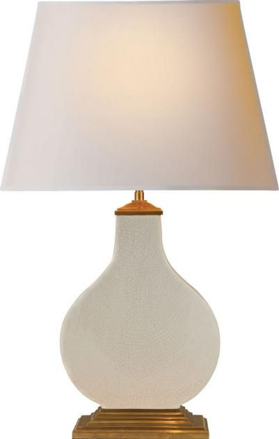 Cloris Table Lamp in Tea Stain Porcelain with Natural Paper Shade : AH3067TS-NP | Lights Fantastic