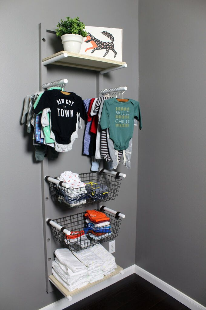 Diy Clothes Rack For A Nursery If You Don T Have Closet And Need To Baby