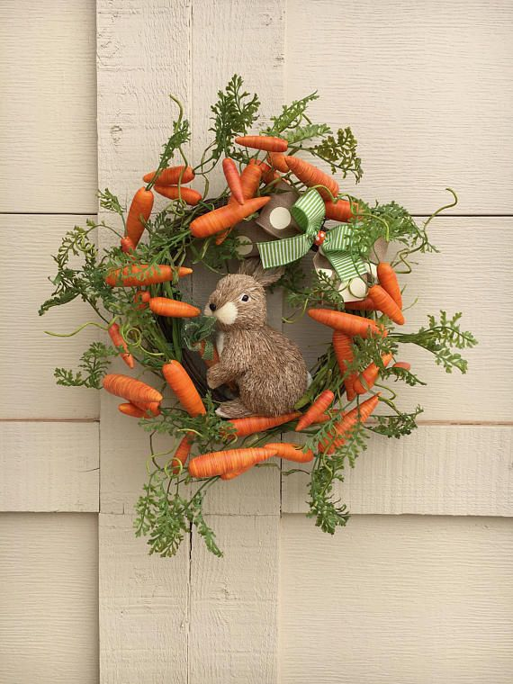 Photo of Items similar to Last one! Easter Wreath,Bunny Wreath,Carrot Wreath,Bunny with Carrots Wreath,Natural Bunny Wreath,Natural Easter Wreath,Carrot and Bunny on Etsy