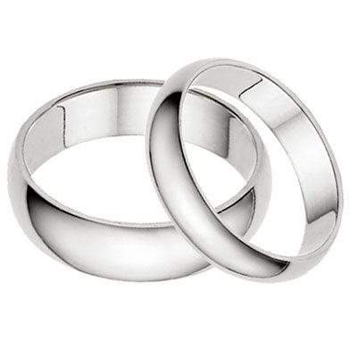 Cheap plain white gold wedding bands