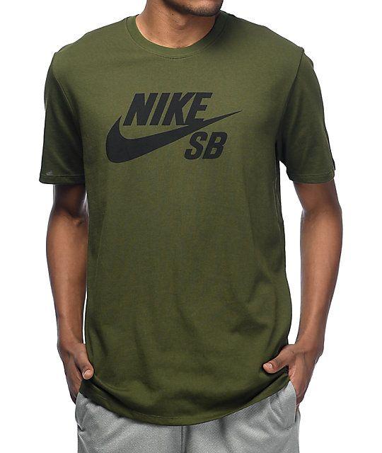 Nike SB Logo Green T-Shirt   Zumiez