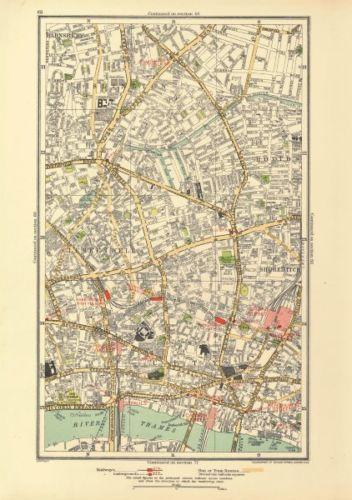 Old Street London Map.London Barnsbury Clerkenwell Hoxton Islington Old Street Angel 1933
