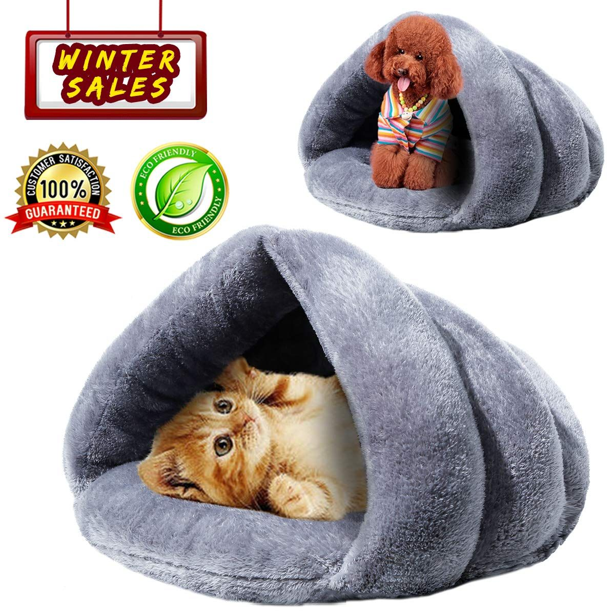 Kaiyang Cat Bed Warm Winter Cat Beds For Indoor Outdoor Cats Self