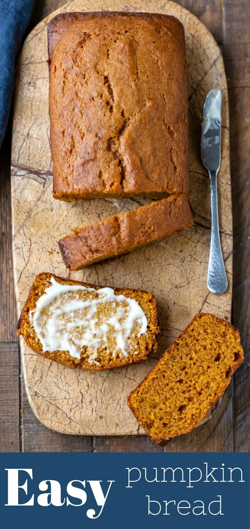 Easy Pumpkin Bread Easy pumpkin bread recipe that makes two loaves of moist homemade pumpkin spice bread.