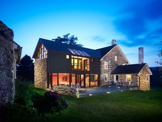 Modern addition to old farmhouse daily dream home 18th century farmhouse renovation in pennsylvania