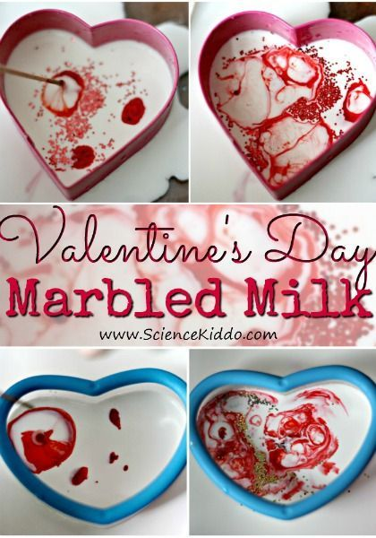 Making magic milk hearts is a fun Valentine\'s Day science ...