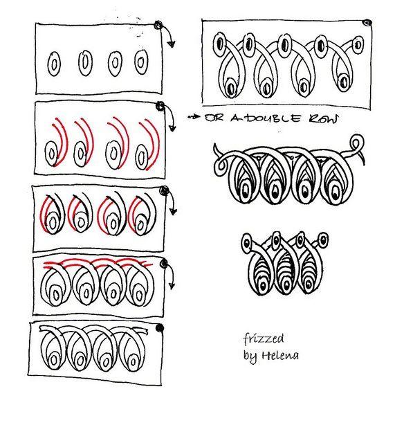 zentangle patterns step by step | Zentangle Patterns