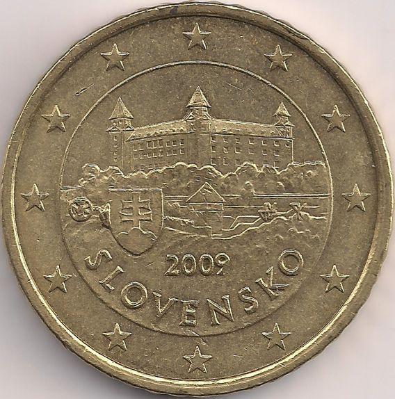 Motivseite Münze Europa Mitteleuropa Slowakei Euro 050 2009 2015