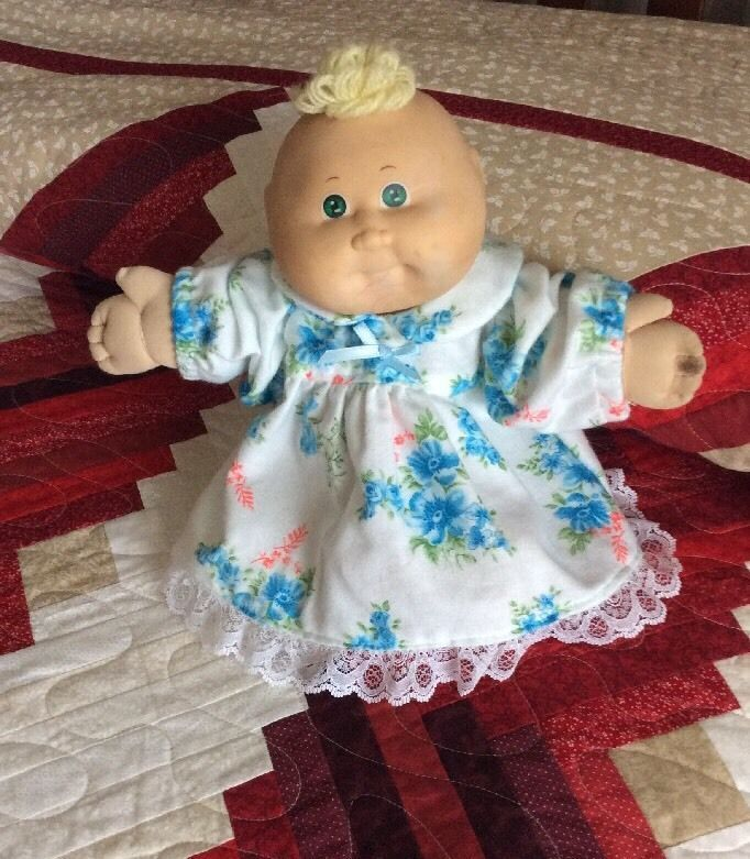 Handmade Cabbage Patch Doll Clothes Soft Flannel Nightgown 15 Inch ...