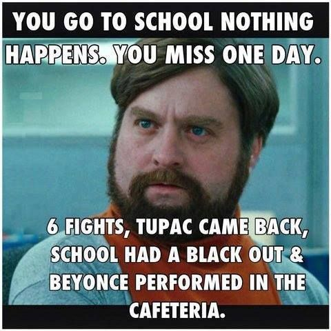 This was so me in high school after missing a day, lol.