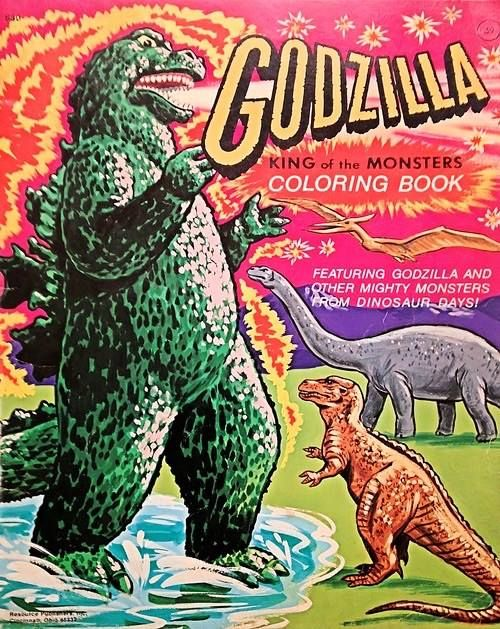 Vintage godzilla coloring book shows that the king of monsters lived and thrived in the mesozoic era