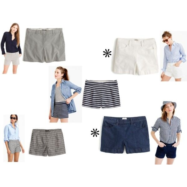 JCrew 2016 Cute Non-Chino Shorts by justvisiting on Polyvore featuring J.Crew