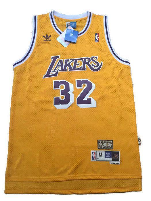 22dc9626774 ... Adidas NBA Los Angeles Lakers Magic Johnson Hardwood Classic Swingman  Jersey 32 ...