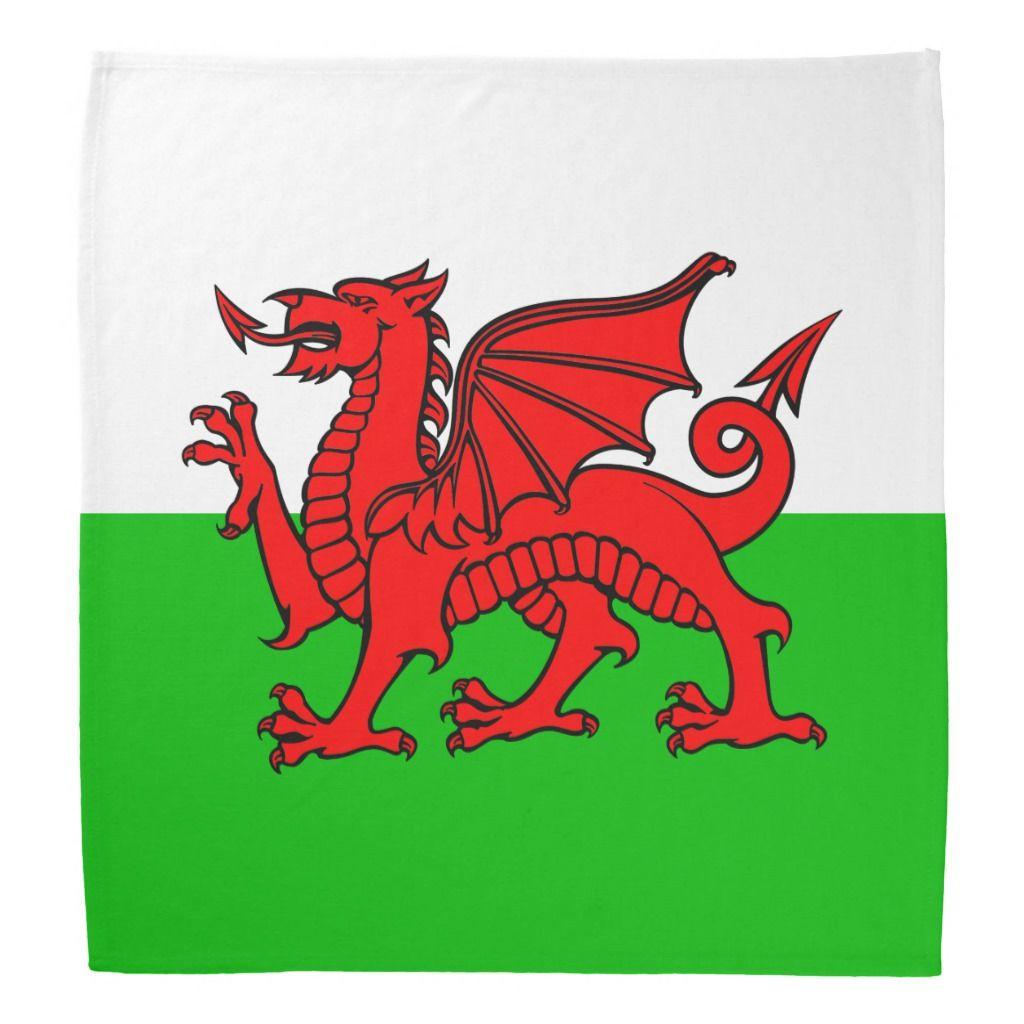 Welsh Red Dragon Wales Flag Bandana Zazzle Com Wales Flag Family Crest Welsh Flag [ 1024 x 1024 Pixel ]