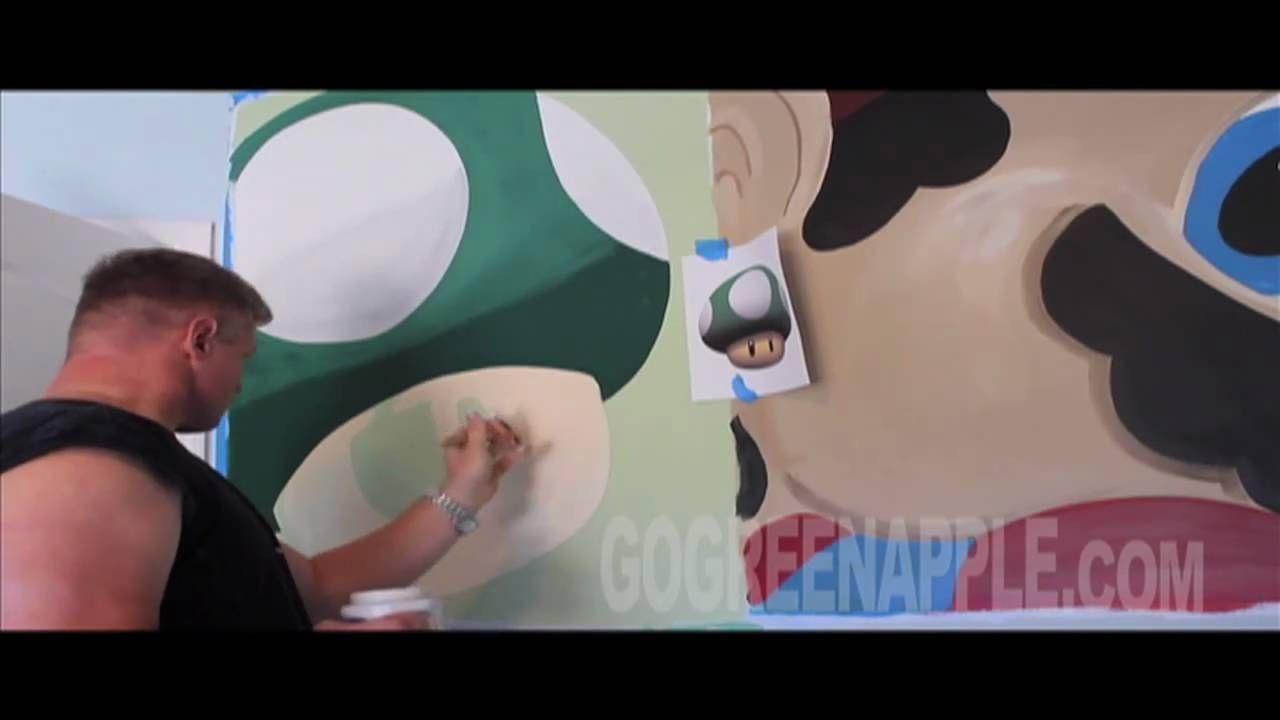 Boys Bedroom Ideas Cool Super Mario Green Apple Painting Bed Design