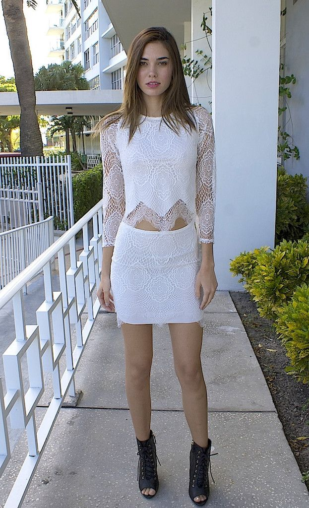 Love and Lace Skirt Set - White – Colors of Aurora