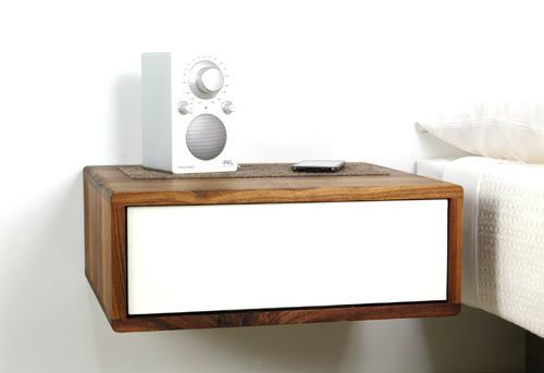 Deconstruction Floating Side Table By Urbancase Photo Wall Mounted Bedside Nightstand