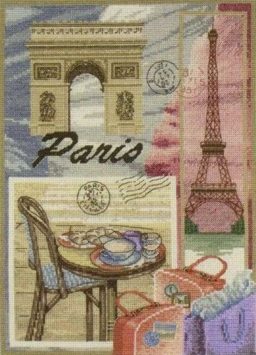 Stickerei Paris (Anker)